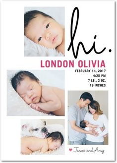 The birth of a beautiful baby girl is a blessing, and it's a milestone that deserves to be celebrated in a one-of-a-kind way. Introduce the precious new arrival to your loved ones with girl birth announcements from Tiny Prints. Baby Girl Birth Announcement, Baby Announcement Cards, Birth Announcements, Tiny Prints, Beautiful Baby Girl, Personalized Baby, Newborn Photos, Maternity, Baby Shower