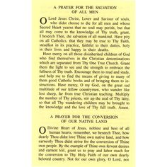 A Prayer for the Salvation of All Men and for the Conversion of Our Native Land.