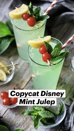 Drink Recipes Nonalcoholic, Alcohol Drink Recipes, Yummy Drinks, Healthy Drinks, Non Alcoholic Mint Julep Recipe, Non Alcoholic Drinks With Mint, Mint Drink Recipe, Best Non Alcoholic Drinks, Mojito Mocktail