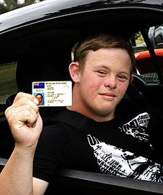 Teen with down syndrome gets driver's license! WHEEL EFFORT: Clayton Marr, 19, of Waimea West, who has Down syndrome, proudly displays his driver's licence.