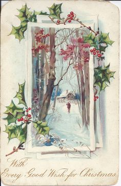 1906 Christmas Card, mailed from Riverside, California. Christmas And New Year, Vintage Christmas, Christmas Cards, Historical Society, Vintage Postcards, Old And New, Museum, Riverside California, Magazine Covers