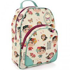 A Mochila Frida Carpe Diem é ótima para carregar seu caderno, livro, notebook…