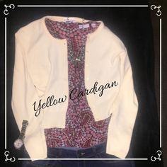 Super cute yellow crop cardigan Pale yellow button down crop cardigan. Gently worn but in great condition. 5, 7, 9 Sweaters Cardigans
