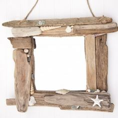 Driftwood & Sea Glass Mirror now on sale here http://www.driftwooddreaming.co.uk/product/driftwood-mirror-0003/