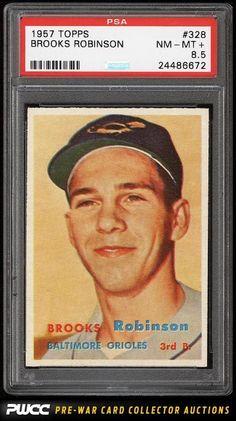 1957 Topps Brooks Robinson ROOKIE RC #328 PSA 8.5 NM-MT+ (PWCC)