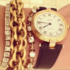 Collected over the years by my mother... #bling with #cartier watch combined in one night by me :)