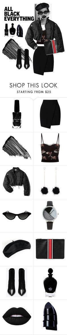 """all black everything"" by aliaw ❤ liked on Polyvore featuring Emma Watson, Azature, Miss Selfridge, Sisley, La Perla, 3.1 Phillip Lim, BKE, Apt. 9, Givenchy and Yves Saint Laurent"