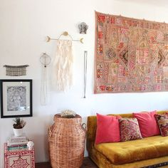 """Bright Star + Buffalo's wall hangings are created with the intention to remind, inspire and protect us. They are named Dvara which is Sanskrit for """"doorway."""" They are openings to our highest human/spi"""