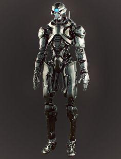 sketchy robot, Dmitriy Rabochiy on ArtStation at http://www.artstation.com/artwork/sketchy-robot
