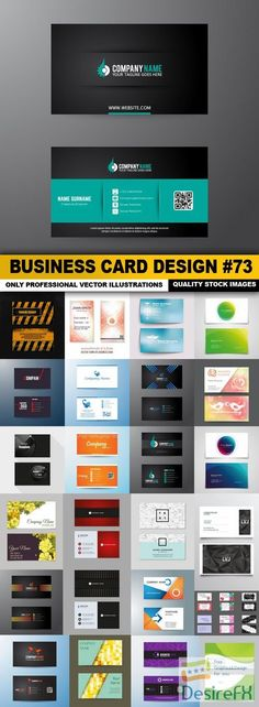 Business Card Design #73 - 25 Vector
