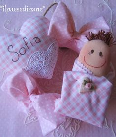 Birth garland pink