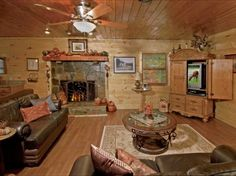 Living room in the guest house. Wooden Living Room Furniture, Living Room Decor, Living Rooms, Log Cabin Homes, Cottage Interiors, My Dream Home, Dream Homes, Living Room Designs, Sweet Home