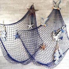 KINGSO Mediterranean Style Decorative Fish Net With Shells Blue KINGSO http://www.amazon.com/dp/B00WVV6384/ref=cm_sw_r_pi_dp_MbT6vb1Z5T0RG