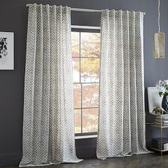 Cotton Canvas Stamped Dots Curtain
