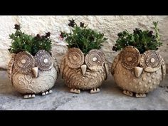Keramik Eule Pflanztopf/Ceramic Owl Plant Pot - YouTube