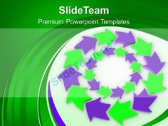 Purple And Green Circular Arrows Flow Powerpoint Templates Ppt Backgrounds For Slides 0213 #PowerPoint #Templates #Themes #Background
