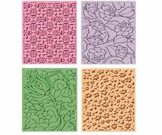 Brand New - Cuttlebug SUMMER SET - 4 embossing folders - RETIRED #Cuttlebug