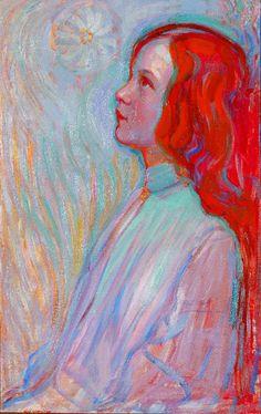 design-is-fine:  Piet Mondrian, Devotion, 1908. Oil on canvas. Gemeentemuseum Den Haag. Via mondriaan.nl