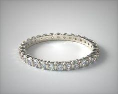Pinterest: @ britaneiroberts   14K White Gold Ladies 0.50ctw* Bar Set Diamond Eternity Ring