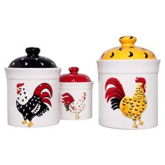 Country Rooster Canister Cookie Jar Dolomite Farm Home Kitchen Chicken  Decor | Cookie Jars, Farming And Country