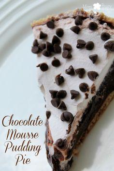 Chocolate Mousse Pudding Pie Recipe - #chocolatepie