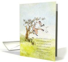 Vintage / Nostalgia / Retro card: Friendship is Precious Thank you Greeting Card by Marcee J. Duggar