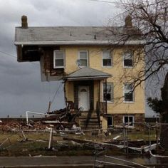 """House in NJ destroyed in Hurricane Sandy - demolished - became like the """"cover house"""" for that terrible storm, much to poor owner's dismay!"""