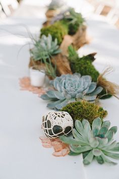 29 Earthy Chic Wedding Ideas Youll Obsess Over via Brit + Co Driftwood Wedding Centerpieces, Succulent Centerpieces, Beach Wedding Decorations, Party Decoration, Table Centerpieces, Chic Wedding, Rustic Wedding, Wedding Ideas, Wedding Table