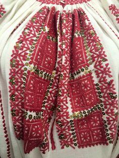 Romanian Blouse - ie. Folk Costume, Costumes, Folk Embroidery, Folk Art, Textiles, Traditional, Blouse, Crochet, Shirts