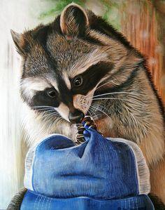 Raccoon Cap by ART-fromthe-HEART.deviantart.com on @deviantART