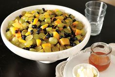 Nectarines, Grapes, and Blueberries with Orange and Cardamom