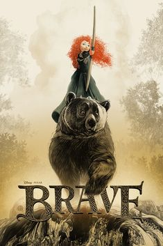 Two classic Pixar films, Cars and Brave, are getting a whole new interpretation in these gorgeous new Mondo prints. Check out our exclusive look. Princesa Merida Disney, Princess Merida, Pixar Poster, Brave Movie, Animated Movie Posters, New Toy Story, Disney Posters, Pixar Movies, Kid Movies