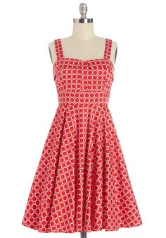Pull Up a Cherry Dress in Dots | Mod Retro Vintage Dresses | ModCloth.com