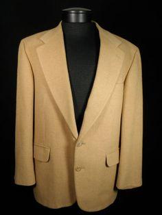 Robert Stock Camel Hair Blazer Mens Size 42S Short 100% Camelhair Near Mint #Mensfashion #Style #Blackfriday http://r.ebay.com/oXLDUI