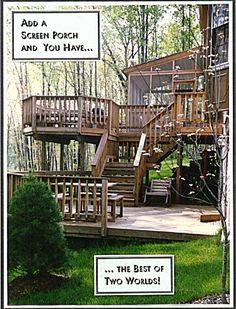 screened in deck ideas | ... decks, Deck Builders, screen porch, front porch, porch designs, deck