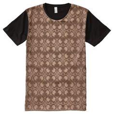 Baroque Style Golden Pattern All Over Print Shirt   Pattern Sample Design  Template Diy