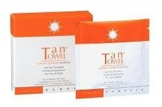 TanTowel TanTowel Classic Full Body - 5 Pack - 5 pack by Tan Towel. $18.43. The pulp fiber towelette exfoliates the skin during application and allows for a more even tan. TanTowel Classic Full Body - 5 Pack is a box of self tanning towelettes with a revolutionary self-tanning formula that dries in seconds and wont discolor ankles, knees, elbows, or joints. The formula is non-streaking and easy to apply. TanTowel Classic Full Body - 5 Pack is a box of self tanni...
