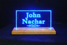 USB Personalized Desk Table Sign *Can be used with adapter for wall outlet - Unique LED Products #led #nameplates