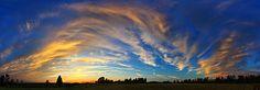 Schoolyard Sunset 1 Panorama by Bill Caldwell -        ABeautifulSky Photography