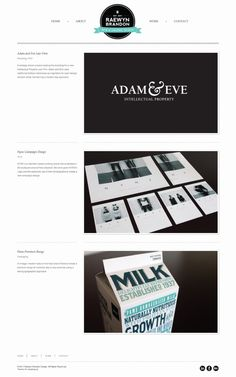 Raewyn Brandon Portfolio Website by Raewyn Brandon, via Behance