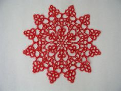 Tatted Doily Starlight - Translated from an ancient pattern of J & P Coats  hahaha, I spend more time collecting patterns than tatting...but this is so pretty.