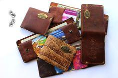 4lapki тонкий кошелёк натуральная кожа ручная работа / slim wallet purse genuine leather hand craft
