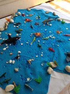 Mesa sensaorial do fundo do mar!!!