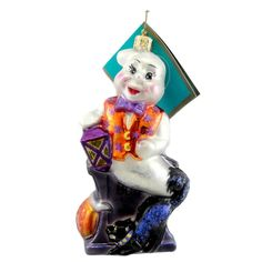 Radko LIFTED SPIRITS 1012659 Ornament Halloween Ghost Cat New
