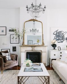 So in love with this french inspired #livingroom via @theeverygirl_!  #instacurated
