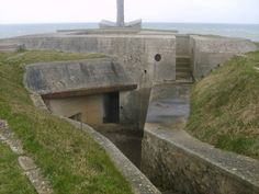 WWII - Europe: Normandy  Intricate installations on the cliffs