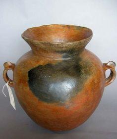 #1-272 Antique ceramic florero – Guatemala 16Dx17H