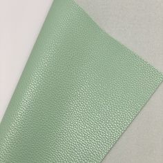 Mint Green Textured Faux Leather Faux Leather Fabric, Leather Texture, Fabric Textures, Green Leather, White Cotton, Mint Green, Cotton Canvas, Craft Projects, Bows