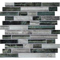Backsplash: American Olean 12-in x 12-in Loren Place Equinox Glass Mosaic Wall Tile | Lowe's Canada