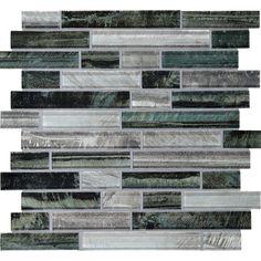 Backsplash: American Olean 12-in x 12-in Loren Place Equinox Glass Mosaic Wall Tile | Lowe's Canada